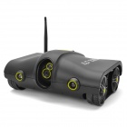 Iphone / Ipad Control Wi-Fi Spy Tank w/ 300KP Camera / Night Vision / Microphone - Black (6 x AA)
