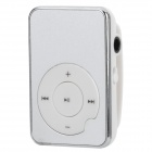 Aluminum Alloy Systemsteuerung MP3 Player w / TF - Silber + Weiß