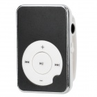 Aluminum Alloy Panel MP3 Player w/ TF - Black + White