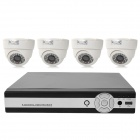 INS-4SYS161 4-CH 1/4 CMOS Linux OS Security Surveillance DVR w/ 4 Cameras Set - Black