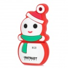 Patriot Memory Snowman Style USB 2.0 Flash Drive - White + Red (8GB)