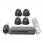 D-S160 4-CH Security Surveillance DVR w/ 4 CCTV Cameras Set - Black