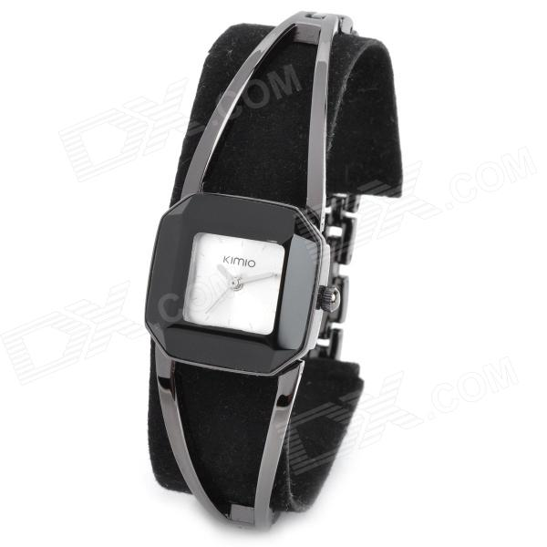 Kimio K463L Stylish Quartz Water Resistant Wrist Watch - Black (1 x 377) stylish water resistant red led digits wrist watch black silver 1 x 377
