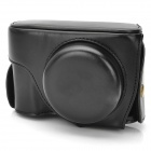 Protective PU Leather Camera Bag for Nikon P7700 - Black
