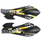 Cool Windproof Motorcycle Handlebar Guard Protector - Black + Yellow + Silver Grey (2 PCS)