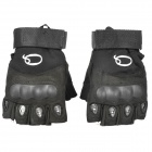 Outdoor Anti-Skid Tactical Half Finger Gloves - Black (Size L)