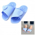 Ultra-Thin Folding Soft Rubber Relax Slippers - Light Blue (Pair / Size L)