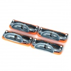 FUSION Replacement Blade Heads for Manual Shaver Razor - Orange + Grey (4 PCS)
