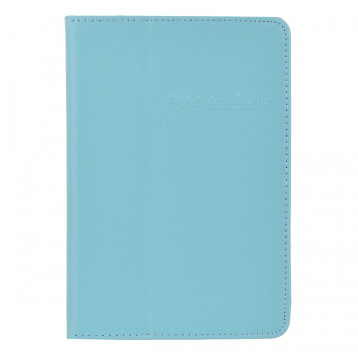Flip-Up Open Protective PU Leather Folding Case for Ipad MINI - Blue