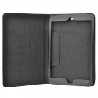 Lichee Pattern Flip-Up Open Protective PU Leather Folding Case for Ipad MINI - Black