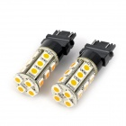 3157 4W 19-5050 SMD Yellow LED Car Steering Lamp w/ Constant Voltage IC Contact (12~17V / 2 PCS)