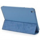 Flip-Up Open Protective PU Leather Folding Case for Ipad MINI - Violet Blue