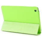 Flip-Up Open Protective PU Leather Folding Case for Ipad MINI - Green