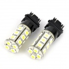 3157 4W 19-5050 SMD LED White Light Car Backup Lamp w/ Constant Voltage IC Contact (12~17V / 2 PCS)