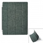 Fashion Ultra-Thin Protective PU Leather Folding Smart Cover for iPad 2 / The New iPad - Deep Green