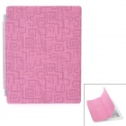 Fashion Ultra-Thin Protective PU Leather Folding Smart Cover for iPad 2 / The New iPad - Deep Pink