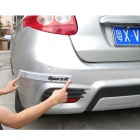 Decoration Protective Guard Bar for Car Front and Rear Bumper - Black (4 PCS)