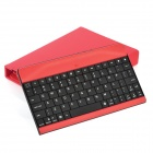 80-Key Wireless Bluetooth V3.0 Keyboard w/ Folding PU Leather Case for Ipad MINI - Red
