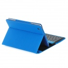 80-Key Wireless Bluetooth V3.0 Keyboard w/ Folding PU Leather Case for Ipad MINI - Blue