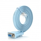 RJ45 Male to Serial DB9 9-Pin Female Adapter Cable for Console Management - Light Blue (150cm)