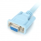 RJ45 macho a DB9 serial de 9 pines cable adaptador hembra - azul claro (1,5 m)