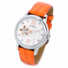 Eyki EFL8543L Damen Full-Automatic Mechanical Skeleton Armbanduhr - Orange