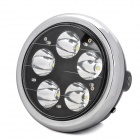 CYT Waterproof 15W 1300lm 5-LED Cool White Light Motorcycle Headlamp for Yamaha YBR125 (12V)