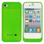Rechargeable 1900mAh External Power Battery Back Case for iPhone 4 / 4S - Green
