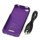 Rechargeable 1900mAh External Power Battery Back Case for iPhone 4 / 4S - Purple