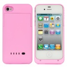 Rechargeable 1900mAh External Power Battery Back Case for iPhone 4 / 4S - Pink