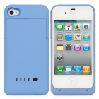 Rechargeable 1900mAh External Power Battery Back Case for iPhone 4 / 4S - Blue