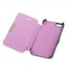 Protective Flip-Open PU Leather + ABS Case Cover for Iphone 5 - Pink