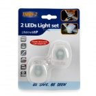 Waterproof 0.1W 10lm 2-LED 3-Mode White Light Motorcycle Fog Lamp (2 PCS / 2 x CR2032)
