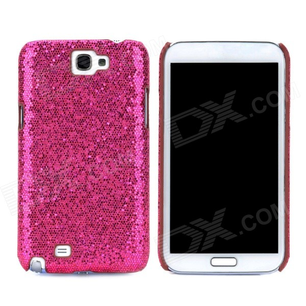 Фото Protective Sequins Plastic Back Case for Samsung Galaxy Note 2 / N7100 - Deep Pink 0 4mm ultrathin protective plastic back case for samsung galaxy note 2 n7100 translucent deep pink