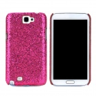 Protective Sequins Plastic Back Case for Samsung Galaxy Note 2 / N7100 - Deep Pink