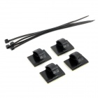 Car Wire Cable Clip Organizer Set - Black