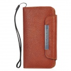 KALAIDENG Fashion Protective PU Leather Case Cover for Iphone 5 - Brown