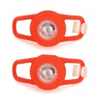Waterproof 0.05W 5lm 2-Mode LED Red Light Tie-On Motorcycle Safety Light - Red (2 PCS / 2 x CR2032)