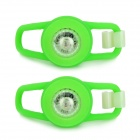 Waterproof 0.05W 5lm LED Green Light Tie-On Motorcycle Safety Light - Green (2 PCS / 2 x CR2032)