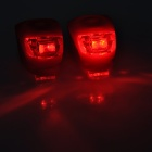 Waterproof 0.05W 10lm 2-LED 3-Mode Red Light Motorcycle Fog Lamp - Red (2 PCS / 2 x CR2032)