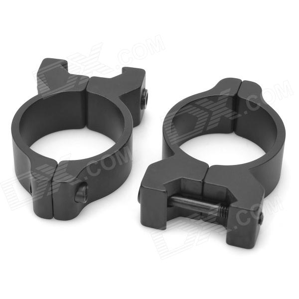 H2006 Aluminum Alloy Laser Flashlight Mount Rings for MP5SD5 + More Shotguns - Black (30mm / 2 PCS)
