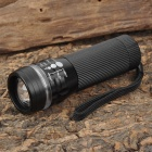 ForestTiger SLH-H606 3W LED 200lm 3-Mode White Light Zooming Flashlight - Black + White (3 x AAA)