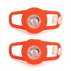 Waterproof 0.05W 5lm 2-Mode LED RGB Light Tie-On Motorcycle Safety Light - Red (2 PCS / 2 x CR2032)