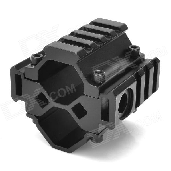 Y0041 Universal Aluminum Alloy Shotgun Tri-Rail Barrel Mount for M733 / SR-16 / M40- Black