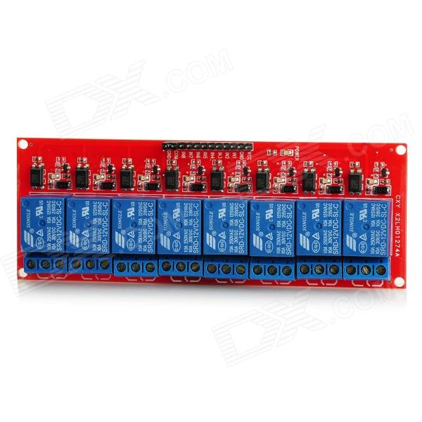 8-Channel 12V Relay Module Board 8 channel 5a high level trigger solid state relay module board 3 32v power supply and trigger voltage