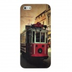 Classic Street Pattern Protective Plastic Bake Case for Iphone 5 - Grey + Red