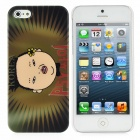 Fun Gangnam Style PSY Pattern Protective Back Case for iPhone 5 - Olive Green