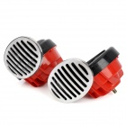 Snail Style 60dB Loud Security Alarm Siren Horn Speaker - Red + Silver + Black
