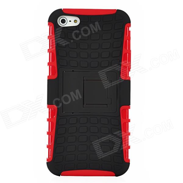 все цены на Protective Detachable PC + Silicone Back Case w/ Stand Holder for Iphone 5 - Red + Black онлайн