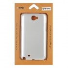 Protective Plastic Back Case for Samsung Galaxy Note 2 / N7100 - Silver White